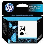 HP 74 Black Inkjet Print Cartridge CB335WN