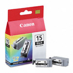 Canon 8190A003 BCI-15BK Black Twin Pack