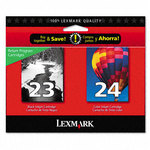Lexmark 18C1571 #23, #24 Black & Color Twin-Pack