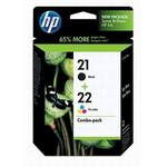 HP 21/22 Black/Tri-Color Inkjet Combo Pack C9509FN