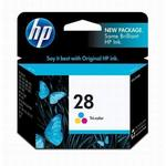 HP 28 Tri-Color Inkjet Print Cartridge C8728AN