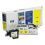 HP 81 Yellow UV Printhead & Cleaner C4953A