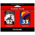 Lexmark #32,#33 Black & Color Twin Pack