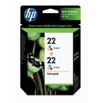 HP 22 Tri-Color Inkjet Twin Pack CC580FN