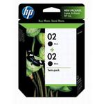 HP 02 Black Ink Twin Pack C9500FN
