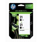 HP 21 Black Inkjet Twin Pack C9508FN