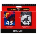 Lexmark #43XL, 44XL Black & Color Twin-Pack