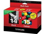 Lexmark 18C2239 #14, #15 Black & Color Twin-Pack