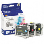Epson T060520 Color Ink Cartridge 3-Pack