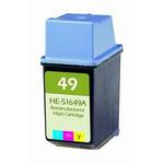 HP 49 Compatible Tri-Color Inkjet Cartridge 51649A